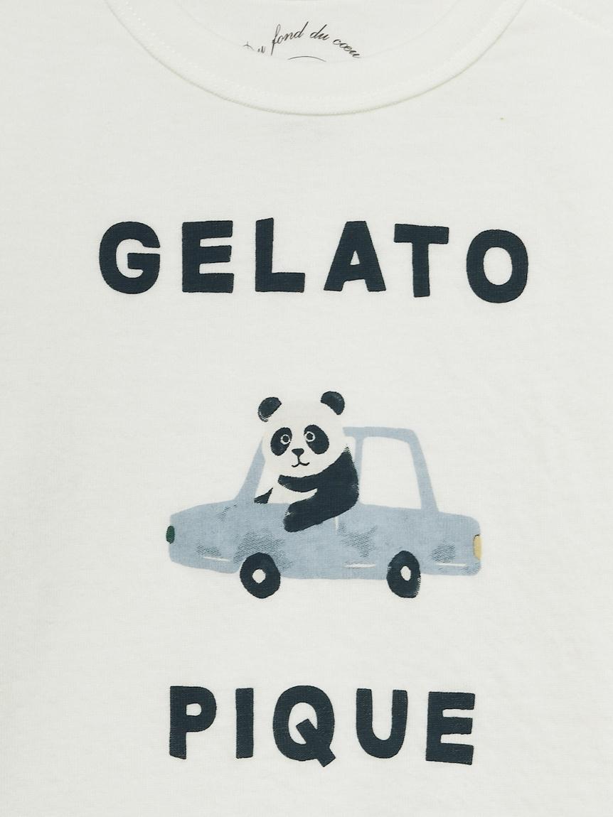 【BABY】くるまモチーフワンポイント baby Tシャツ | PBCT211450