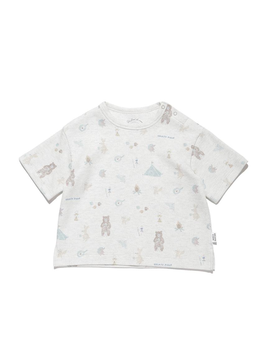 【BABY】 アニマルキャンプモチーフ baby Tシャツ | PBCT214452