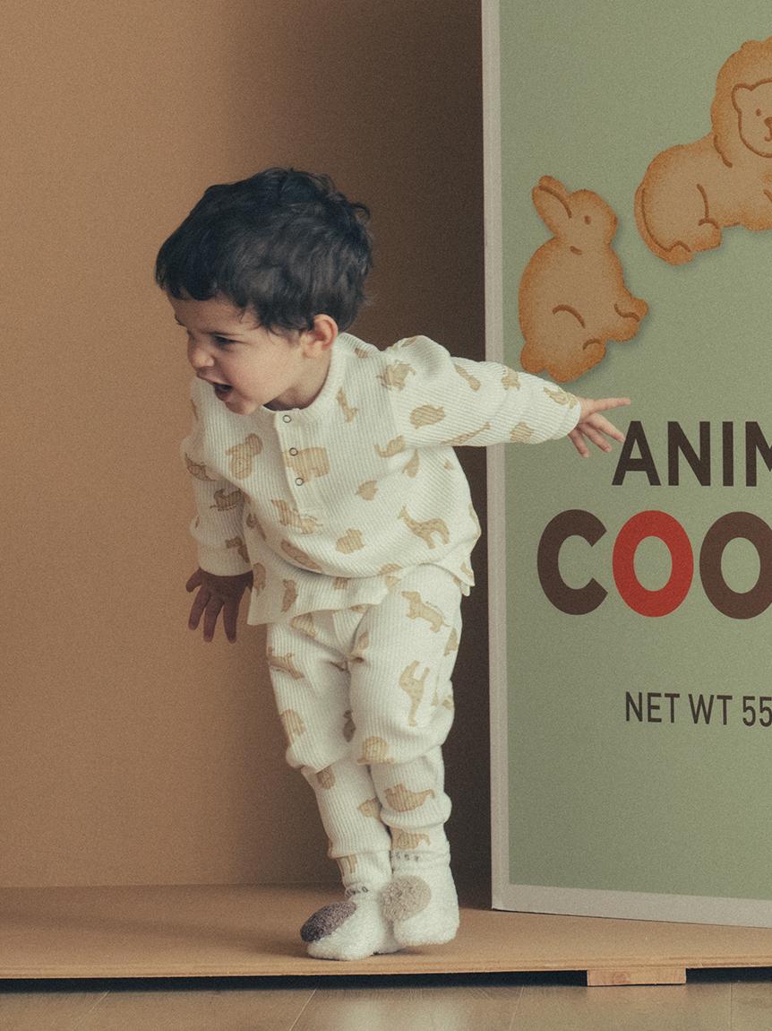 【BABY】 クッキーアニマルモチーフ baby プルオーバー | PBCT214457