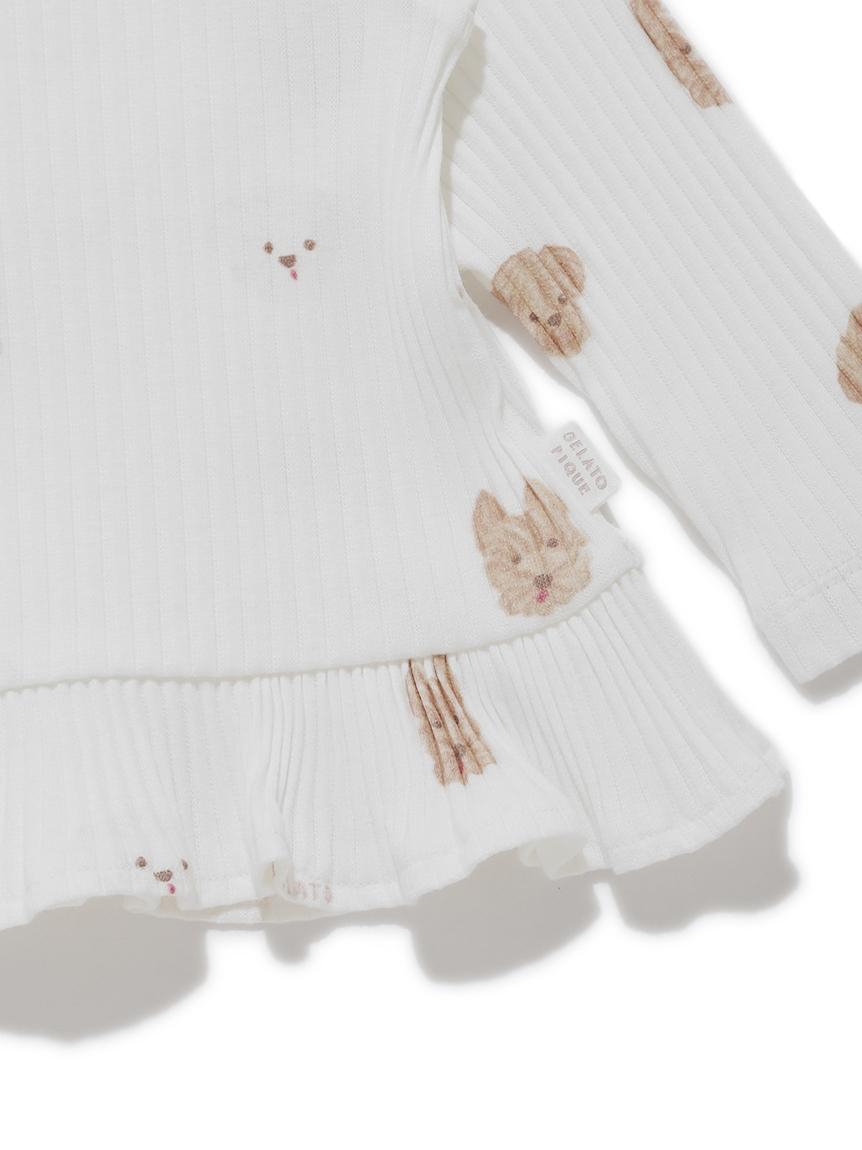 【BABY】メレンゲドッグ柄 baby フリルプルオーバー | PBCT215433