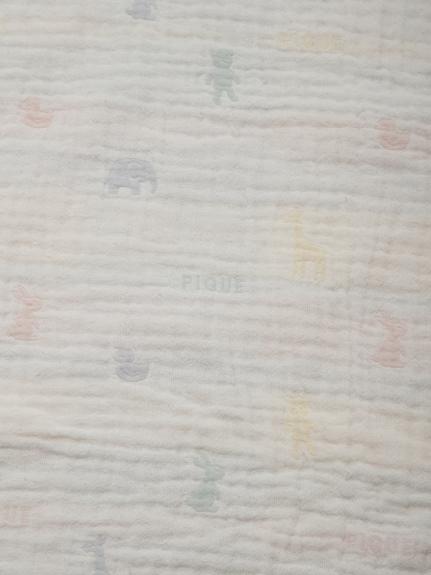 【ラッピング】Babyアニマル柄JQD3重ガーゼブランケット&スタイSET | PBGG209950