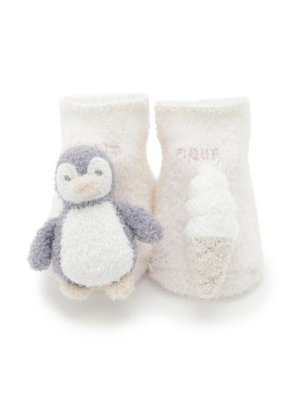 【ラッピング】【Baby】スムーズィカラフルボーダーブランケット&ペンギンソックスSET | PBGG219246