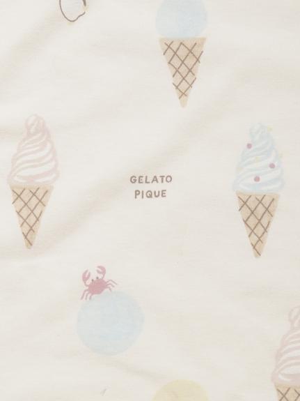 【ラッピング】【Baby】アイスクリームアニマル柄ブランケット&ペンギンソックス&ラトルSET   PBGG219251