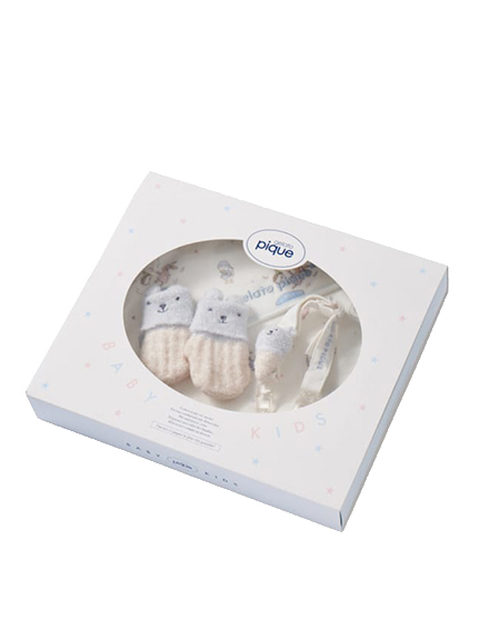 【ラッピング】【Baby】アイスクリームアニマル柄ブランケット&スタイ&ラトルSET   PBGG219252