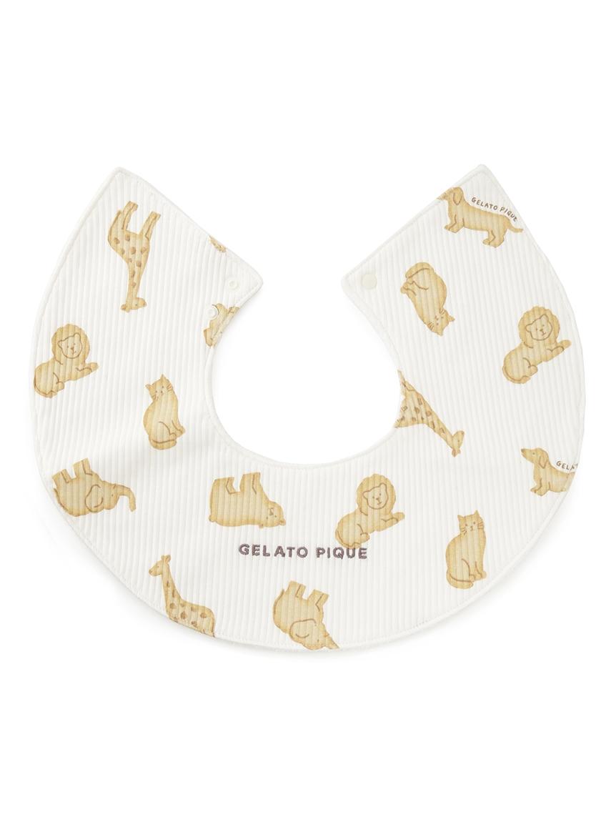 【ラッピング】【KIDS】 ベビモコ'メランジボーダー ブランケット&くまクッキー baby ラトル&クッキーアニマルモチーフ baby スタイSET | PBGG219334