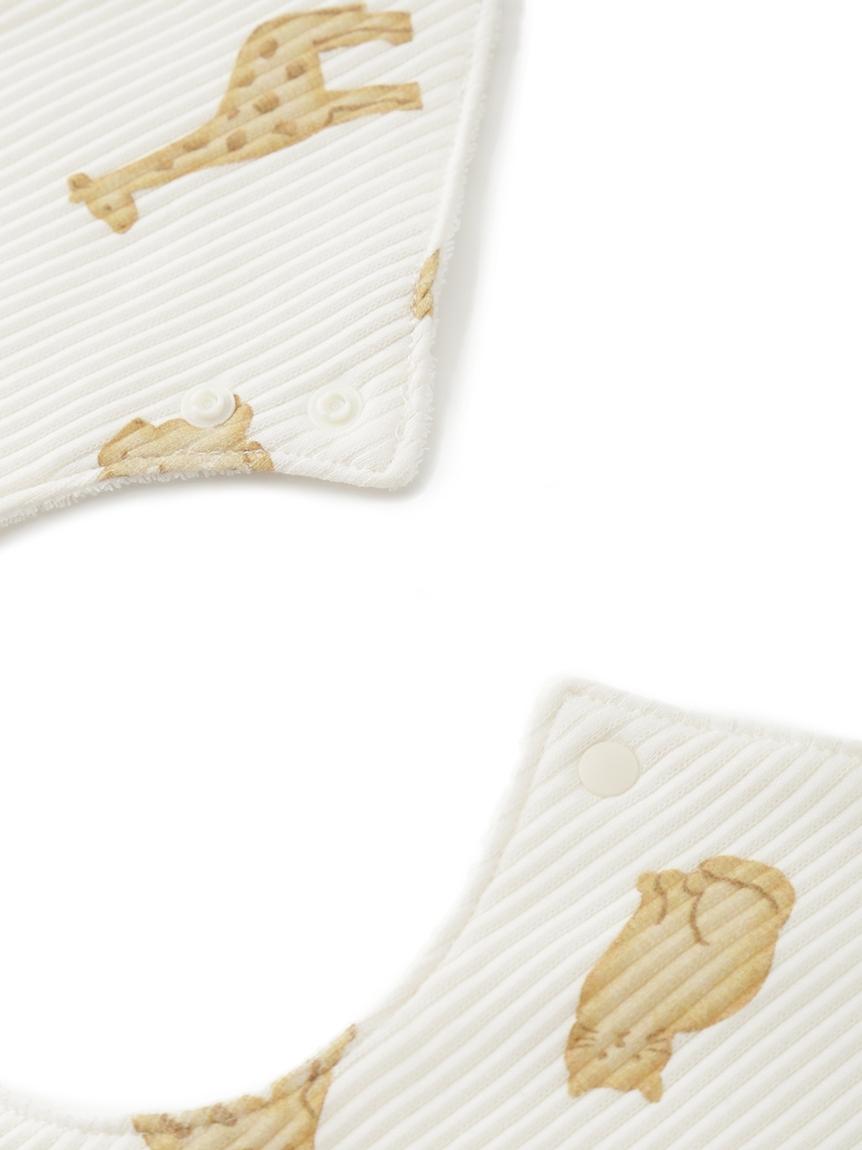 【ラッピング】【BABY】 ベビモコ'メランジボーダー ブランケット&くまクッキー baby ソックス&クッキーアニマルモチーフ baby スタイSET | PBGG219336