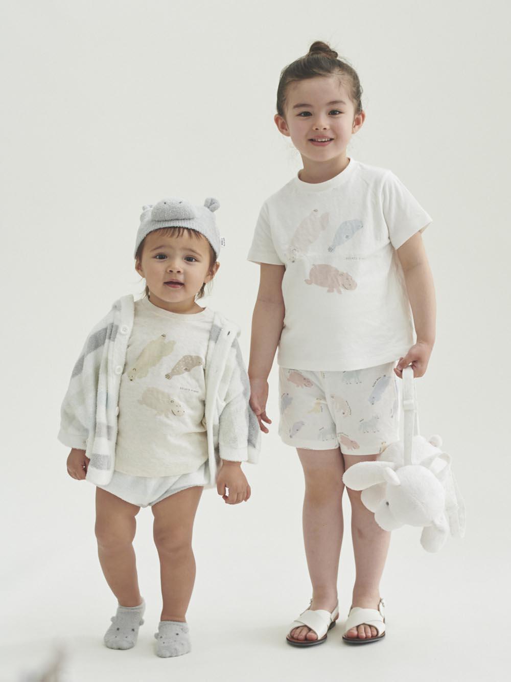 【旭山動物園】'スムーズィー'カバ baby ソックス | PBGS202737