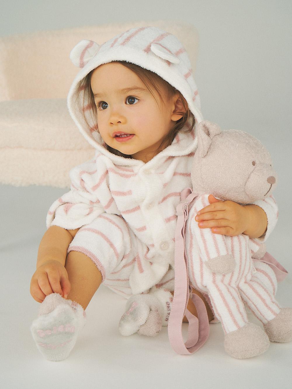 【BABY】'スムーズィー'ボーダーベアモチーフ baby ソックス | PBGS211722