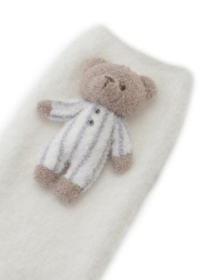 【BABY】'スムーズィー'ボーダーベアモチーフ baby レッグウォーマー | PBGS211723