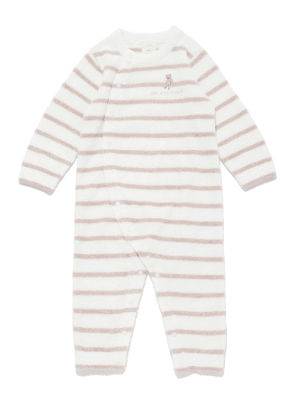 【BABY】'スムーズィー'ベア刺繍ボーダー baby ロンパース | PBNO211446
