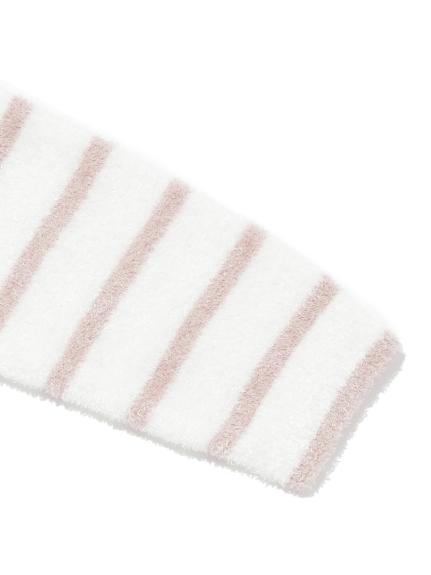 【BABY】'スムーズィー'ベア刺繍ボーダー baby ロンパース   PBNO211446