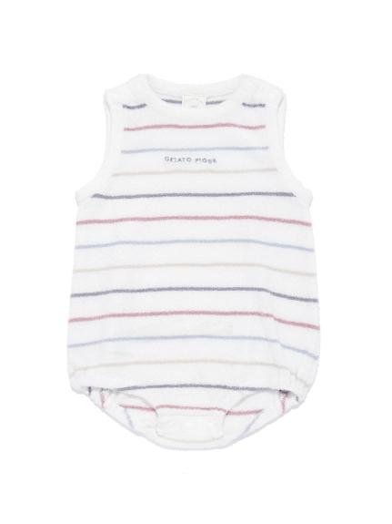 【BABY】'スムーズィー'カラフルピンボーダー baby ロンパース | PBNO212445