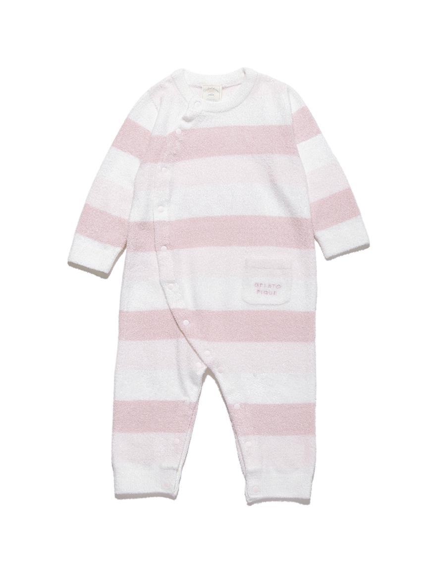 【BABY】 'リサイクル'スムーズィー'3ボーダー baby ロンパース | PBNO214442