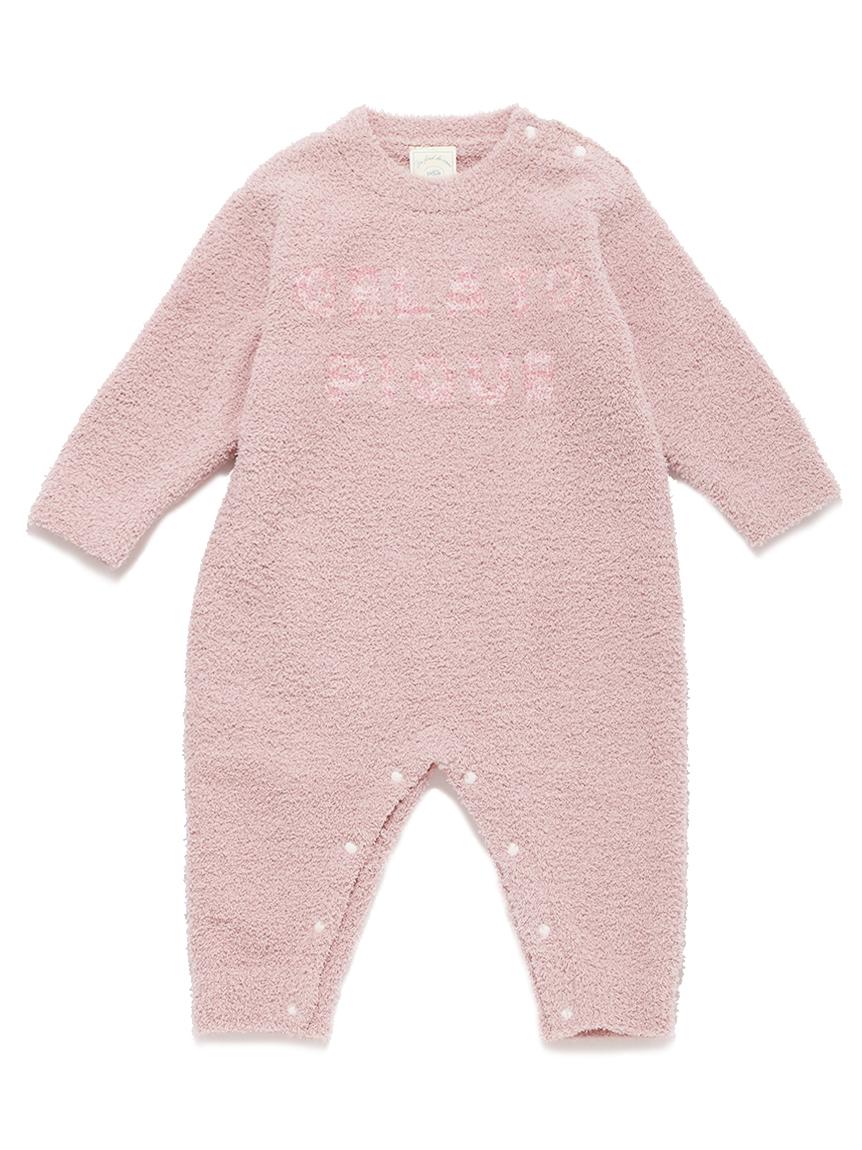 【BABY】 'ベビモコ'ロゴジャガード baby ロンパース | PBNO214445
