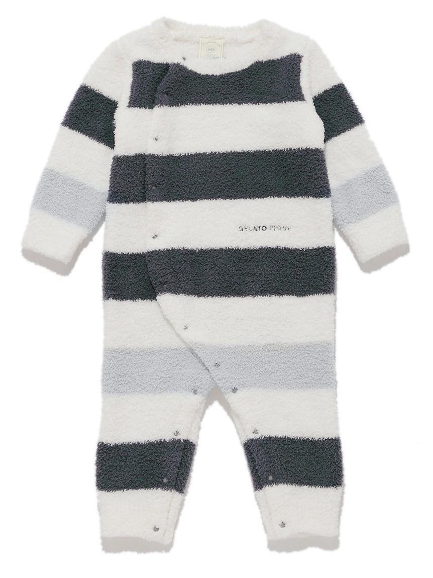 【BABY】パウダートリムボーダー baby ロンパース | PBNO215443