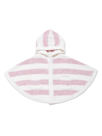 【BABY】'スムーズィー'メランジ2ボーダー baby ポンチョ | PBNT212440