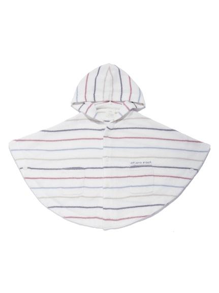 【BABY】'スムーズィー'カラフルピンボーダー baby ポンチョ | PBNT212443