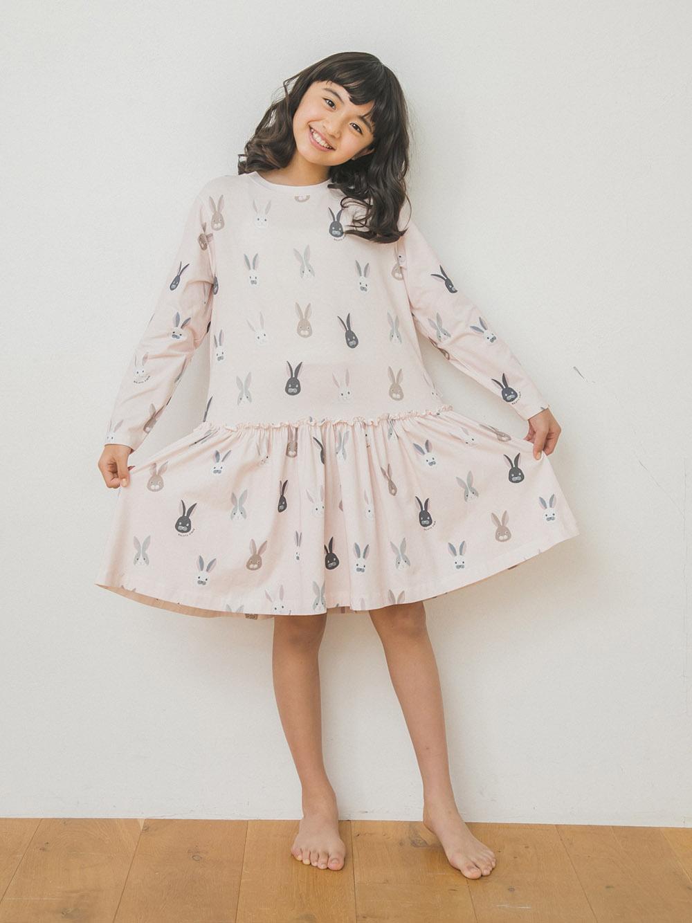 【オフィシャルオンラインストア限定】【junior】うさぎ柄ジュニアドレス&レギンスSET | PJCO205487