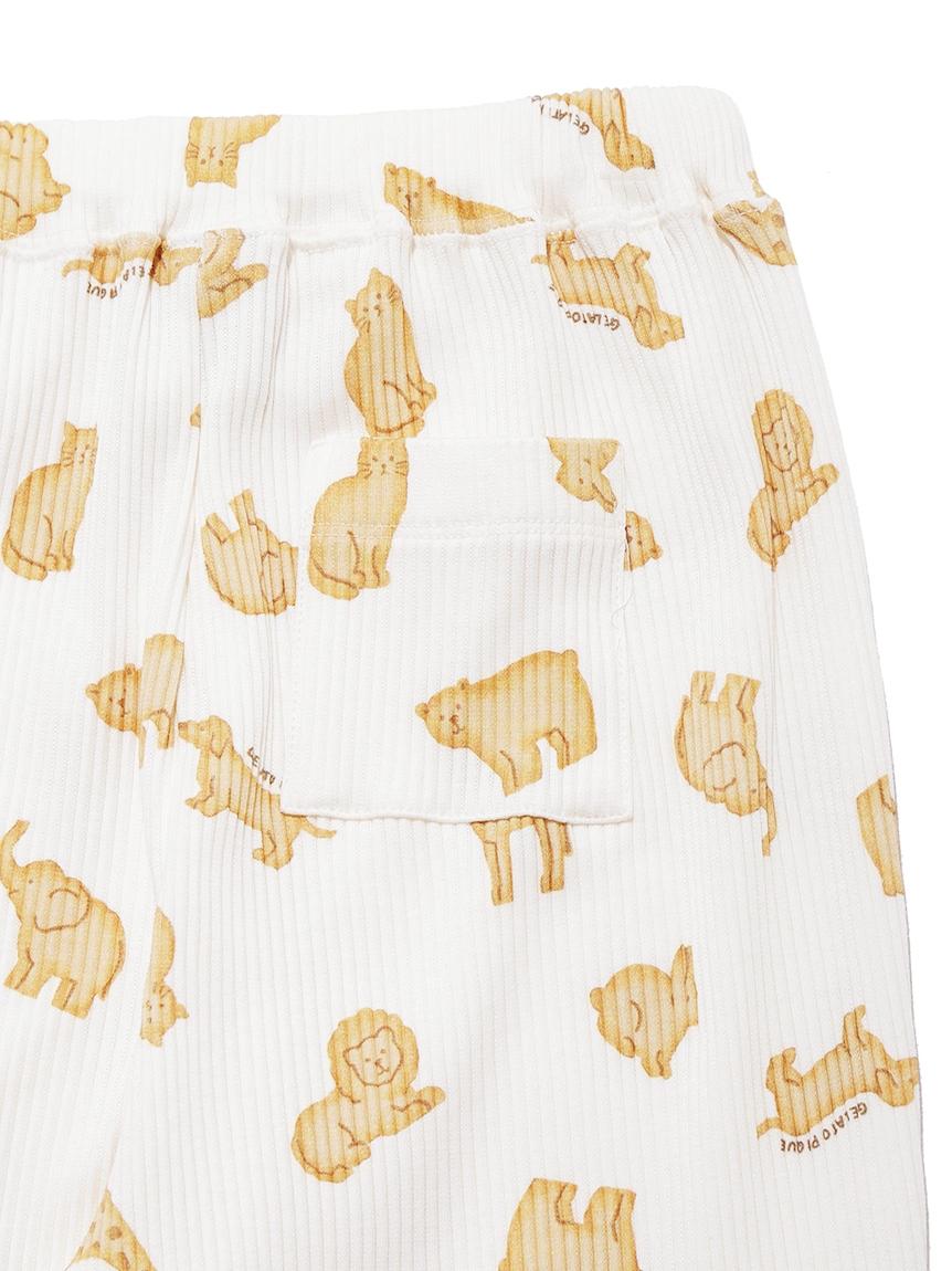 【JUNIOR】 【ONLINE限定】クッキーアニマルモチーフ junior ロングパンツ   PJCP214490