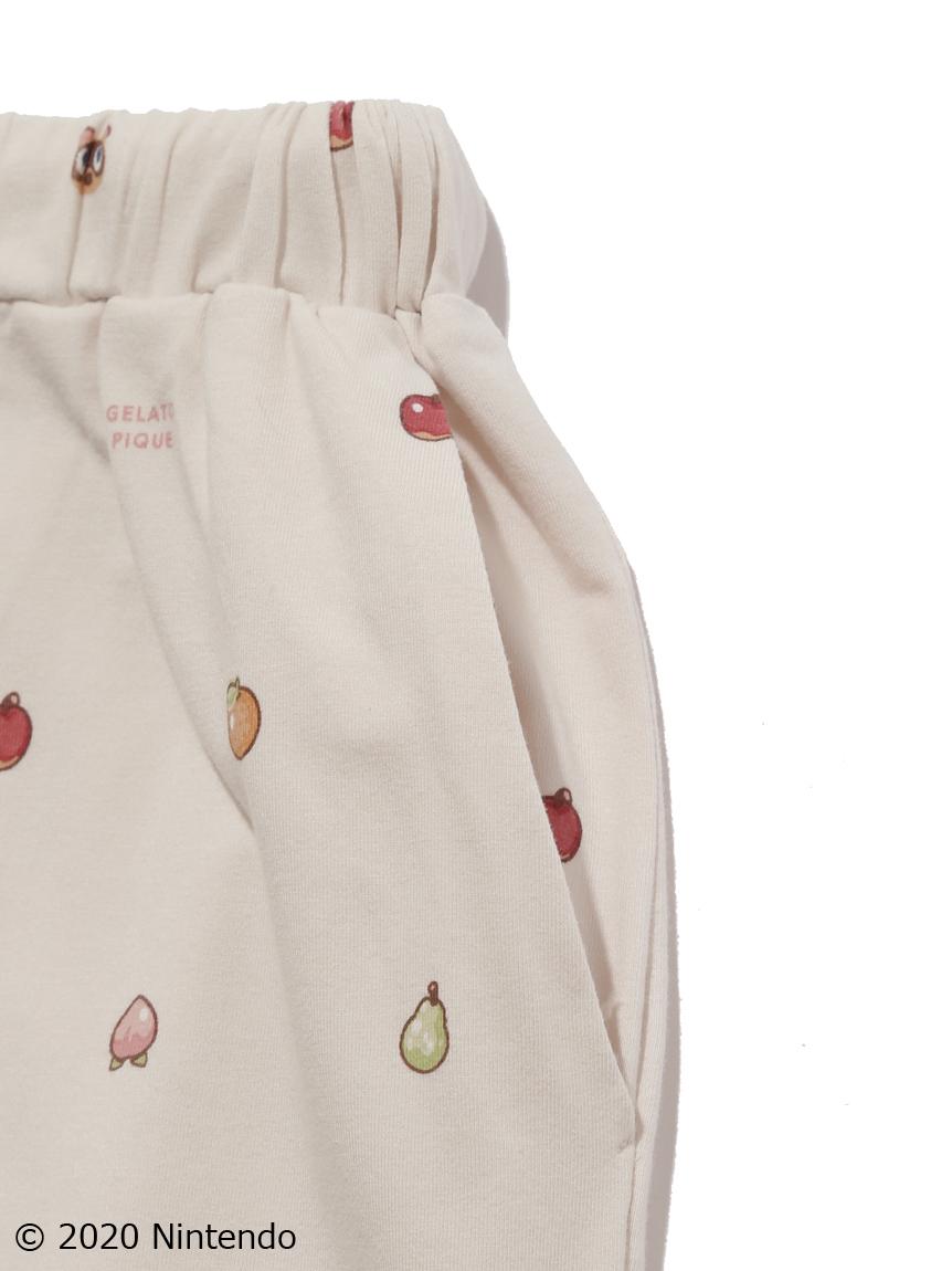 【オフィシャルオンラインストア限定】【あつまれ どうぶつの森】【junior】フルーツ柄 プルオーバー・ロングパンツSET   PJCT205827