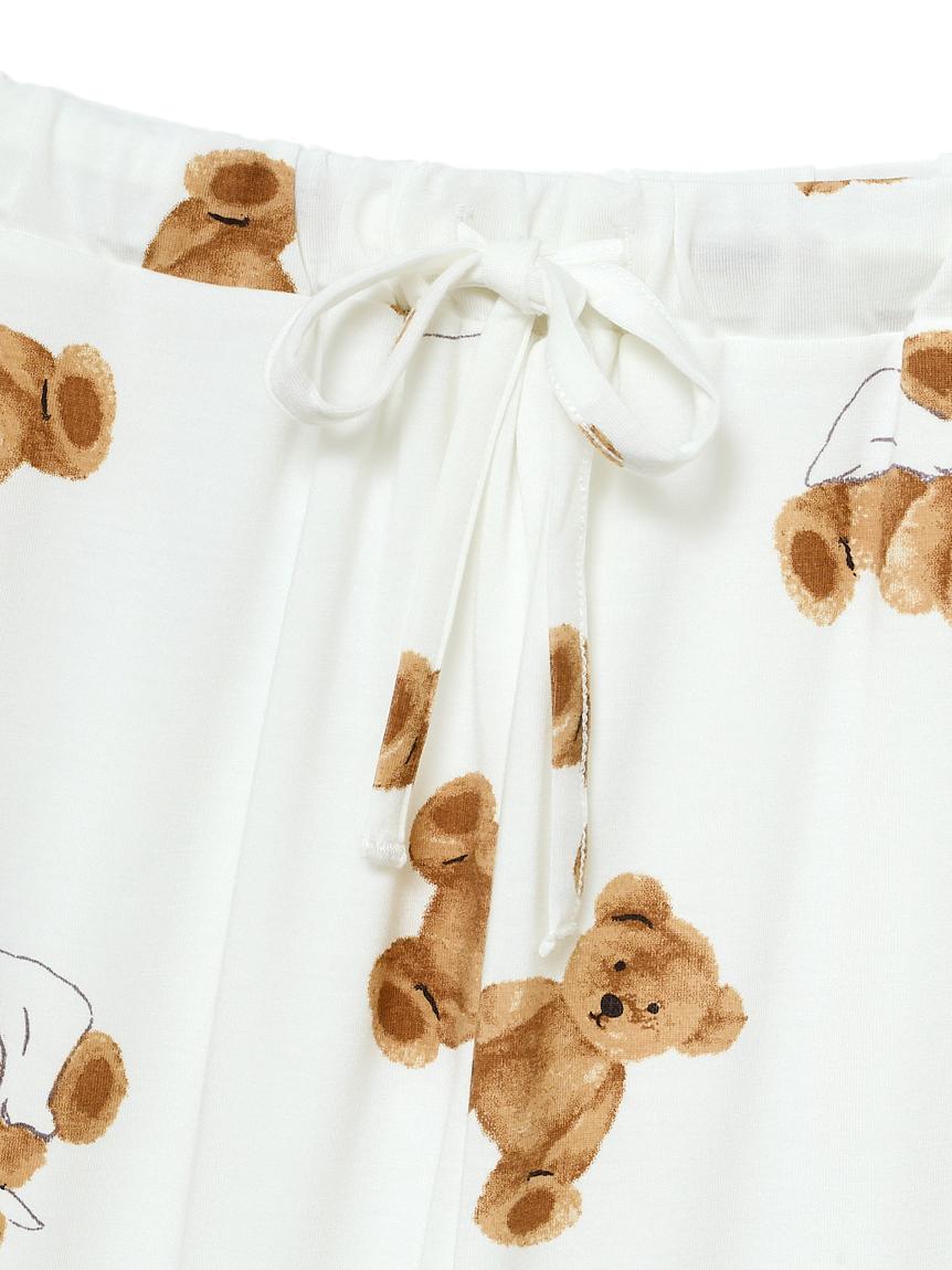 【オフィシャルオンラインストア限定】【junior】ベア柄抗菌防臭Tシャツ&ショートパンツ   PJCT211490