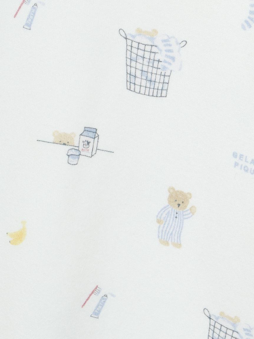 【オフィシャルオンラインストア限定】【junior】モーニングベア柄Tシャツ&ハーフパンツSET | PJCT211493