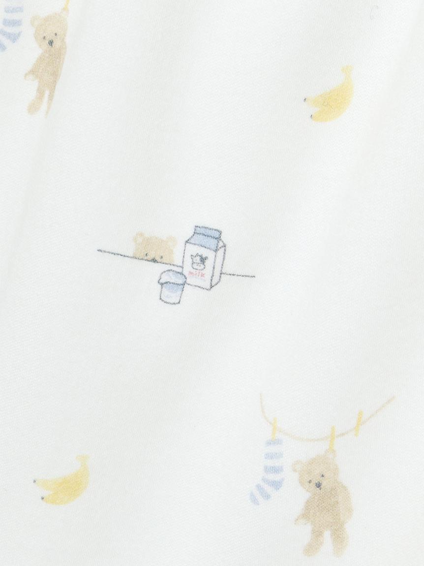 【オフィシャルオンラインストア限定】【junior】モーニングベア柄フリルTシャツ&ショートパンツSET | PJCT211495