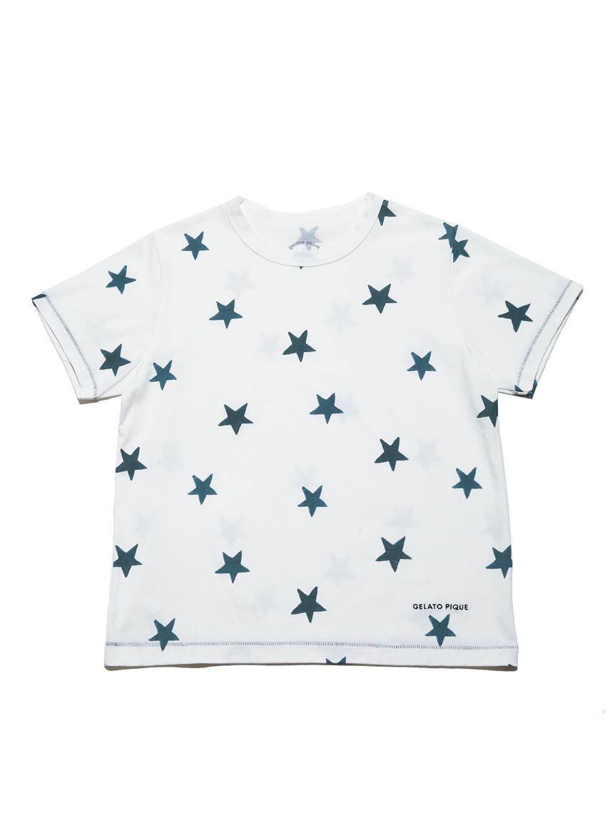 【オフィシャルオンラインストア限定】【junior】スター柄Tシャツ&ハーフパンツSET | PJCT212491