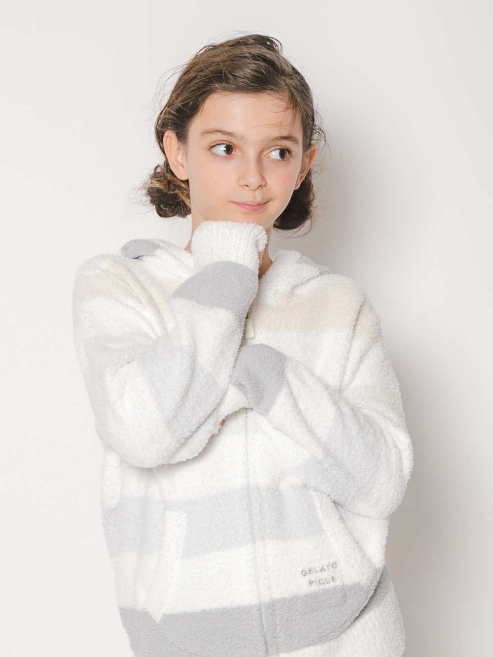 【オフィシャルオンラインストア限定】【junior】ベビモコ5ボーダージュニアパーカ | PJNT211477