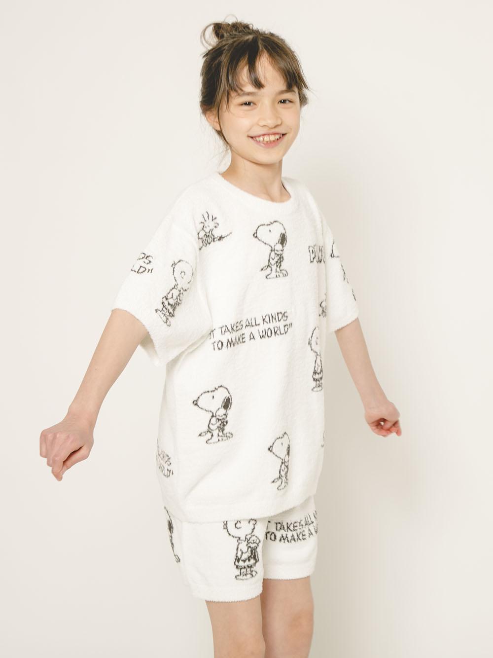 【オフィシャルオンラインストア限定】【PEANUTS】【junior】モノグラムジャガードプルオーバー&ショートパンツSET | PJNT212483
