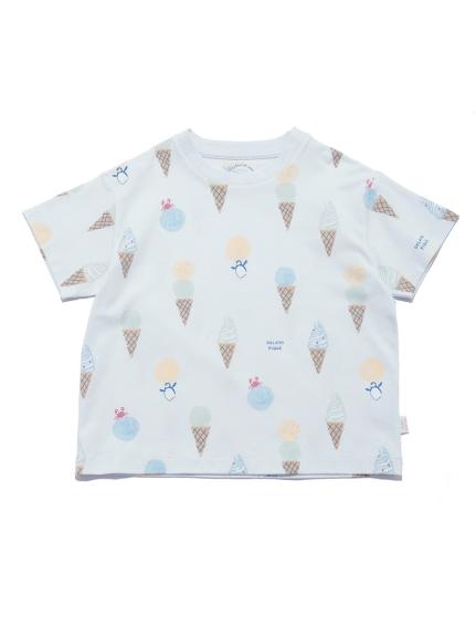 【KIDS】アイスクリームアニマルモチーフ kids Tシャツ | PKCT212416