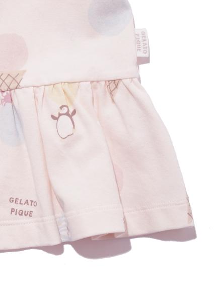 【KIDS】アイスクリームアニマルモチーフ kids フリルTシャツ | PKCT212418
