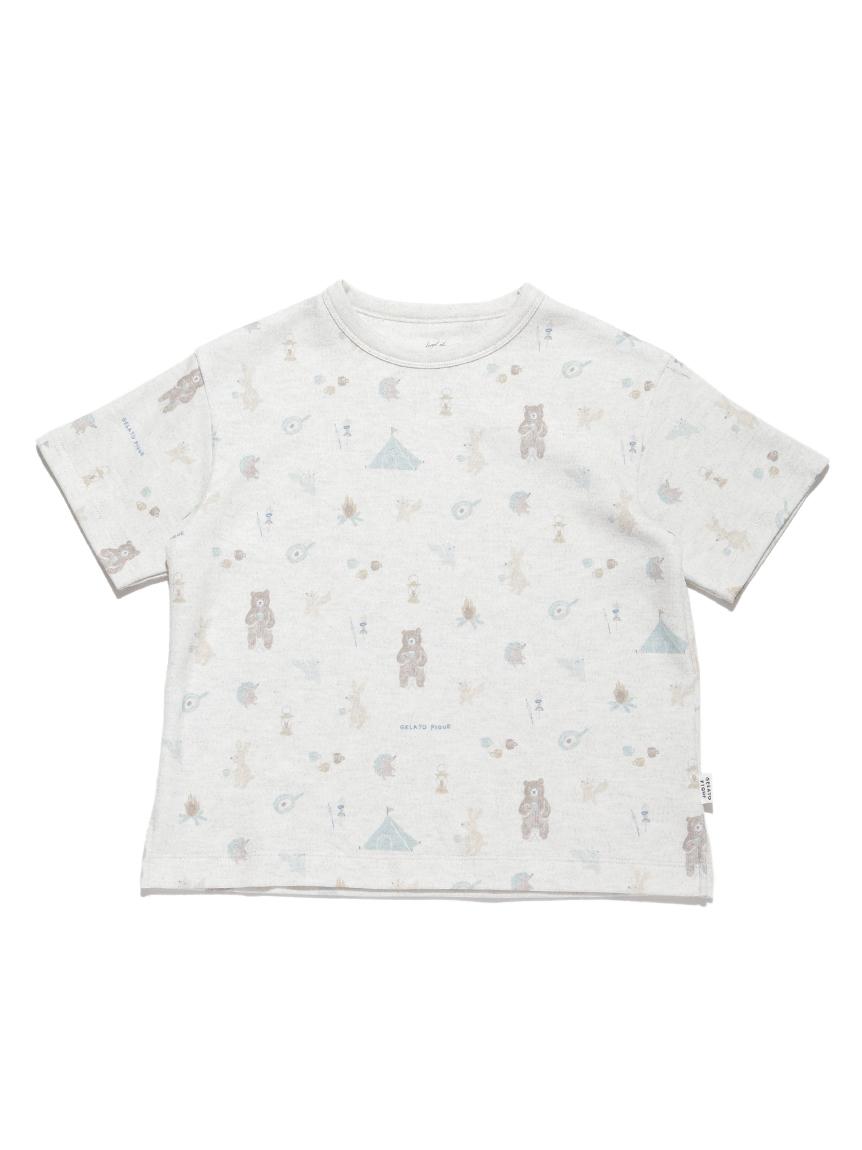 【KIDS】 アニマルキャンプモチーフ kids Tシャツ | PKCT214415
