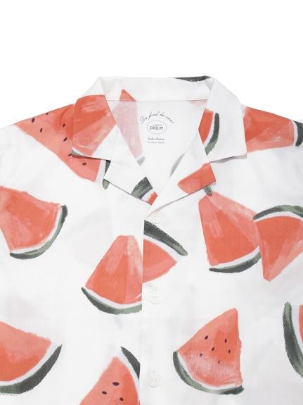 【KIDS】フルーツアロハモチーフ kids シャツ | PKFT212428