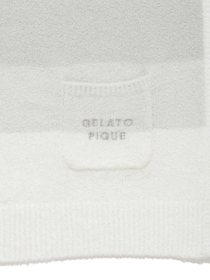 【ラッピング】リサイクル'スムーズィー'3ボーダーブランケット&baby ソックスSET | PKGG219318