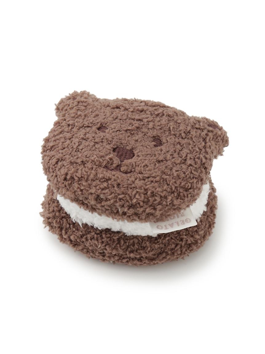 【ラッピング】【BABY】 ベビモコ'メランジボーダーブランケット&くまクッキー baby ラトルSET | PKGG219332