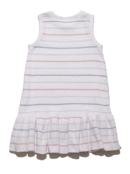 【KIDS】'スムーズィー'カラフルピンボーダー kids ドレス | PKNO212405
