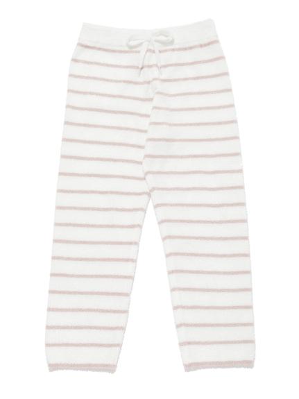 【KIDS】'スムーズィー'ベア刺繍ボーダー kids ロングパンツ | PKNP211404