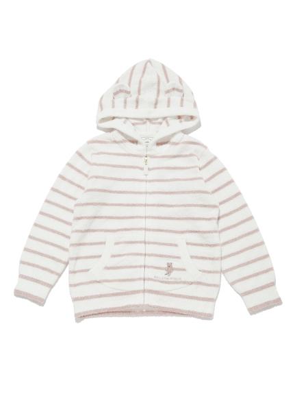 【KIDS】'スムーズィー'ベア刺繍ボーダー kids パーカ   PKNT211403