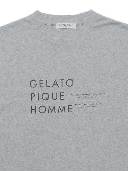 【GELATO PIQUE HOMME】オーガニックコットンロゴTシャツ | PMCT211995