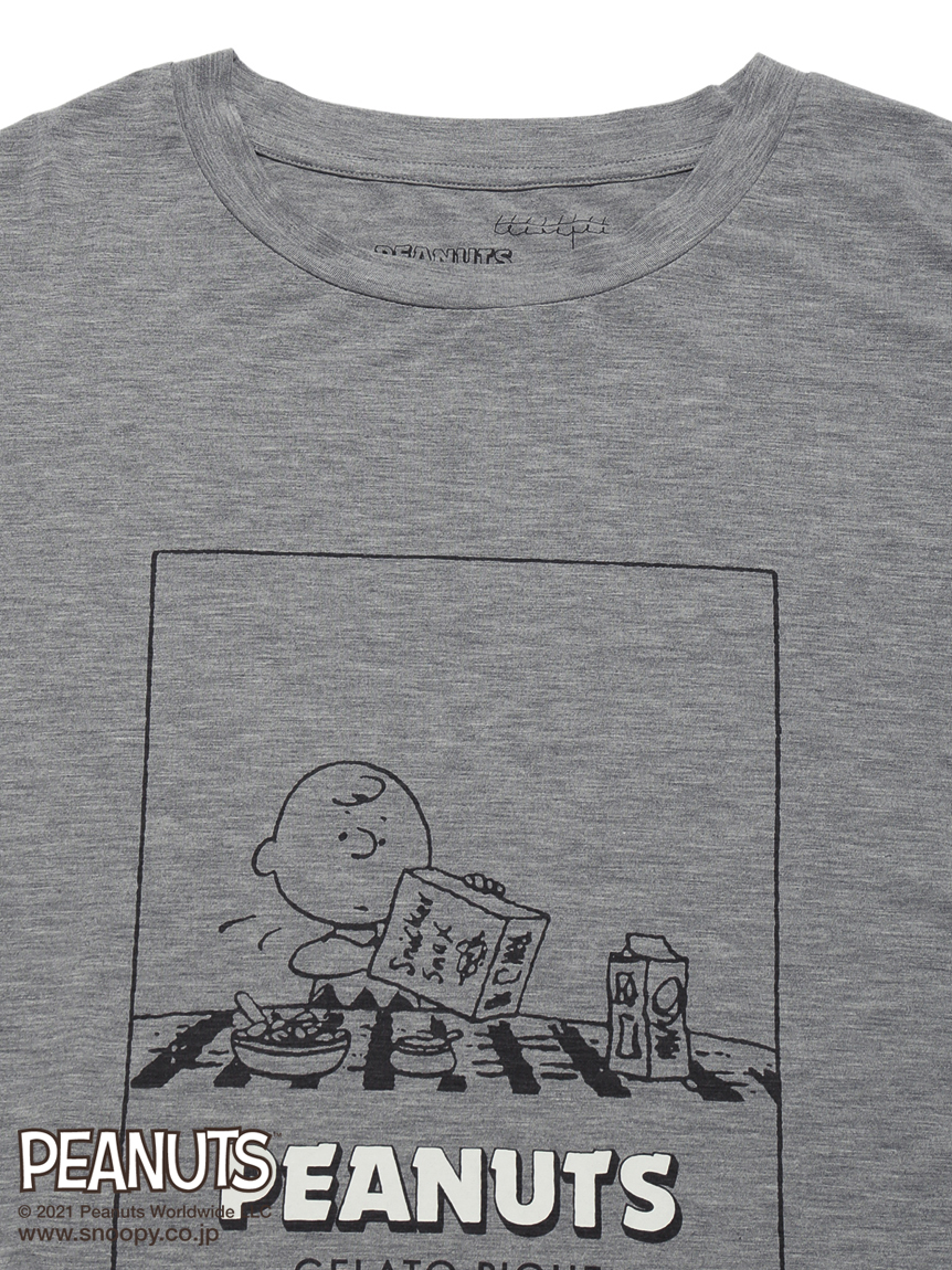 【PEANUTS】 HOMME ワンポイントTシャツ | PMCT212956