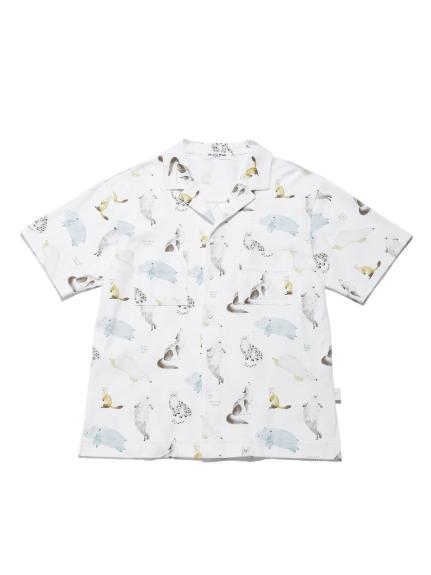 【旭山動物園】 HOMME アニマルモチーフシャツ   PMCT212982