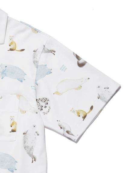 【旭山動物園】 HOMME アニマルモチーフシャツ | PMCT212982