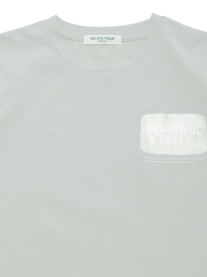 【GELATO PIQUE HOMME】ドライタッチワンポイントTシャツ   PMCT212998