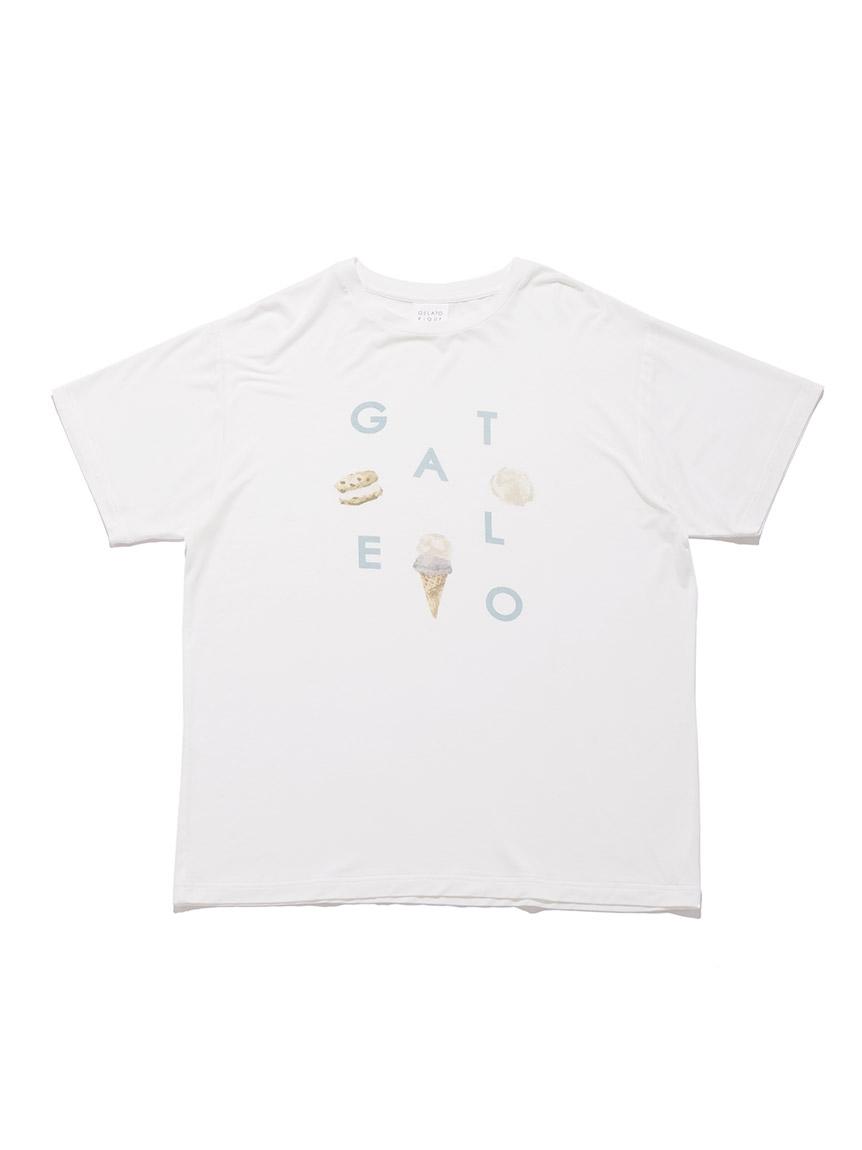 【GELATO PIQUE HOMME】 アイスロゴワンポイントTシャツ   PMCT214149