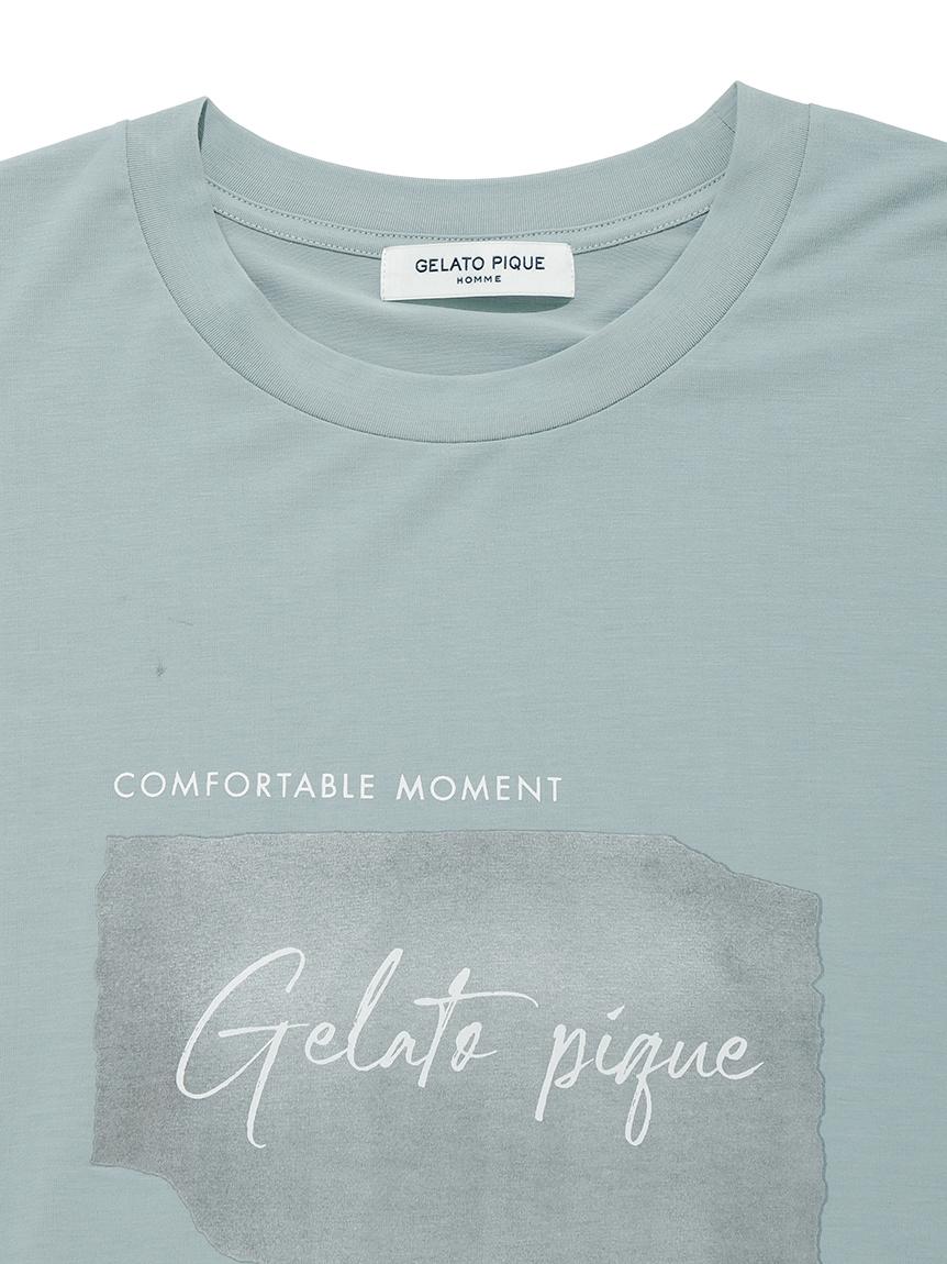 【GELATO PIQUE HOMME】 ワンポイントレーヨンロゴTシャツ | PMCT214987