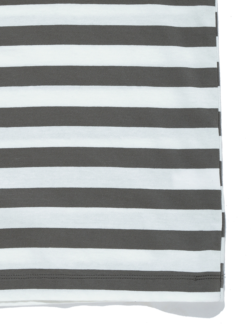 【GELATO PIQUE HOMME】 オーガニックコットンボーダーTシャツ   PMCT214993
