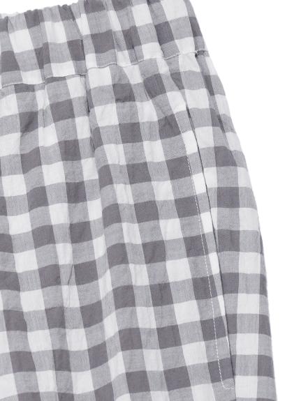 【GELATO PIQUE HOMME】オーガニックコットンギンガムチェックロングパンツ | PMFP212916