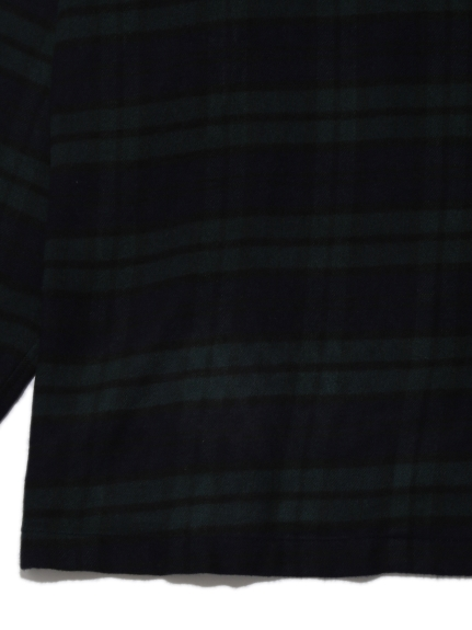 【MISTERGENTLEMAN×HOMME】FLANNNEL BLACKWATCH CAMP COLLAR LOUNGE SHIRT | PMFT204975