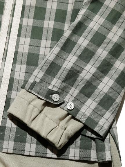 【GELATO PIQUE HOMME】チェックドッキングシャツ | PMFT211969